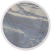 Eggwhite Snow Round Beach Towel