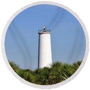 Egmont Key Florida Round Beach Towel
