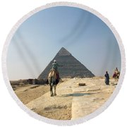 Egypt - Pyramid3 Round Beach Towel