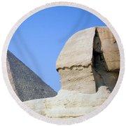 Egypt - Pyramids Abu Alhaul Round Beach Towel
