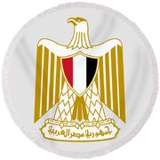 Egypt Coat Of Arms Round Beach Towel