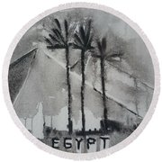 Egypt Round Beach Towel