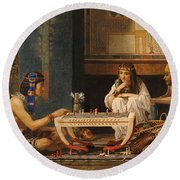Egyptian Chess Players Round Beach Towel
