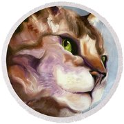 Egyptian Mau Princess Round Beach Towel