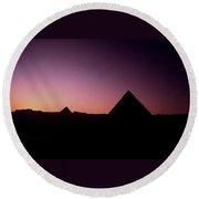 Egyptian Sunset Round Beach Towel