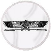 Egyptian Symbol: Vulture Round Beach Towel