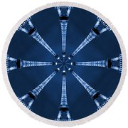 Eiffel Art 17 Round Beach Towel
