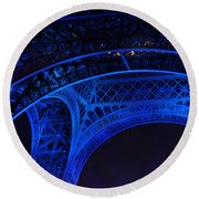 Eiffel Blue Round Beach Towel