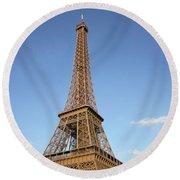 Eiffel Round Beach Towel