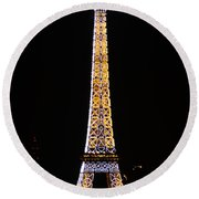 Eiffel Tour 2 Round Beach Towel