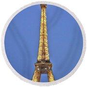 Eiffel Tower 17 Art Round Beach Towel