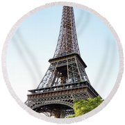Eiffel Tower 4 Round Beach Towel