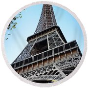 Eiffel Tower 5 Round Beach Towel