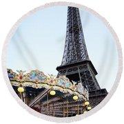 Eiffel Tower 7 Round Beach Towel