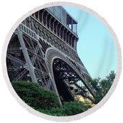 Eiffel Tower 8 Round Beach Towel