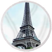 Eiffel Tower 9 Round Beach Towel