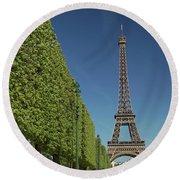 Eiffel Tower-9 Round Beach Towel