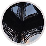 Eiffel Tower Corner Round Beach Towel