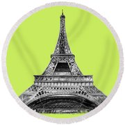 Eiffel Tower Design Round Beach Towel