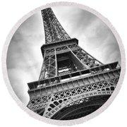 Eiffel Tower Dynamic Round Beach Towel