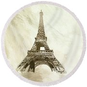 Eiffel Tower Paris France Abstract Background Canvas
