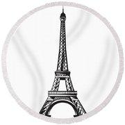 Eiffel Tower Up Round Beach Towel