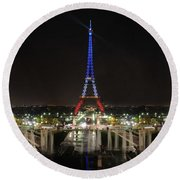 Eiffel Towers Round Beach Towel