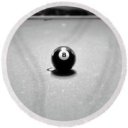 Eight Ball 3 Round Beach Towel