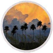 Eight Palms Round Beach Towel
