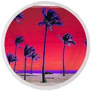 Eight Palms Round Beach Towel