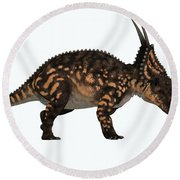 Einiosaurus Side Profile Round Beach Towel