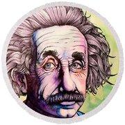 Einstein Round Beach Towel