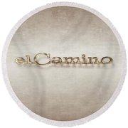 El Camino Emblem Round Beach Towel