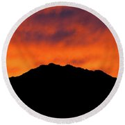 El Paso Fiery Sunset Panoramic Round Beach Towel