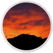 El Paso Fiery Sunset Round Beach Towel
