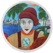 El Payaso Es Round Beach Towel
