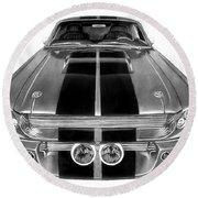 Eleanor Ford Mustang Round Beach Towel