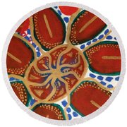 Elec Flower Round Beach Towel