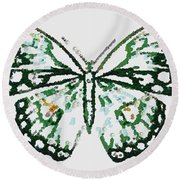 Election 2020 Presidential Candidate Catherien Lott Usa Green Butterfly Round Beach Towel