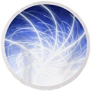 Electric Beams Round Beach Towel