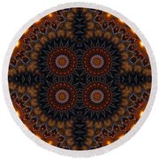 Electric Blue Midway Round Beach Towel