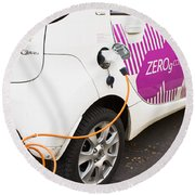 Electric Car Round Beach Towel