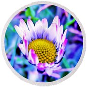Electric Daisy Round Beach Towel