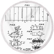 Electric Football Patent 1955 Round Beach Towel