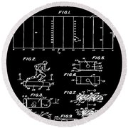 Electric Football Patent 1955 Black Round Beach Towel