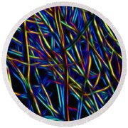 Electric Forest Round Beach Towel