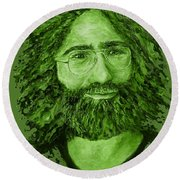 Electric Jerry Olive - T-shirts-etc Round Beach Towel