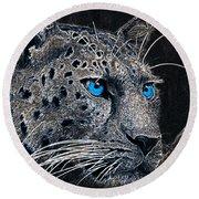 Electric Leopard Round Beach Towel