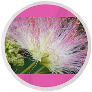Electric Pink Round Beach Towel