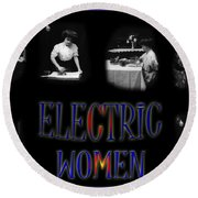 Electric Women Round Beach Towel